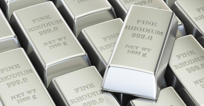 Rhodium highly-risk highly-volatile rarest precious metal