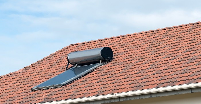 Solar water heating at luxury as well as low income townhouses