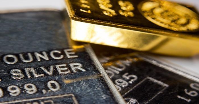 Compare gold to silver or rhodium