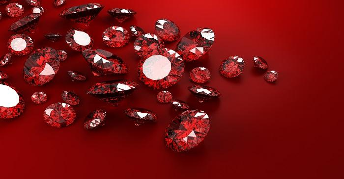 Rubies shinning just as brightly as diamonds and emeralds