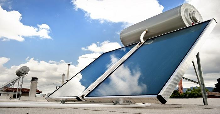 Solar based water heating and rooftop panels