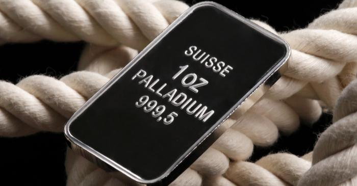 Palladium gains almost 80 percent in a year