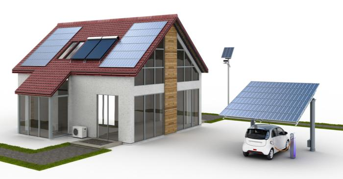 SOLAR POWERED HOME AND CAR