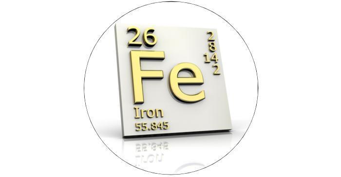 What is the chemical symbol for Iron