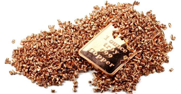 Copper under pressure drops almost 16%