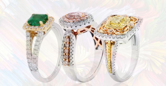 Coloured Gemstones offer distinctive Engagement Rings