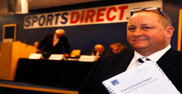 FILE PHOTO: Mike Ashley, founder and majority shareholder of sportwear retailer Sports Direct,