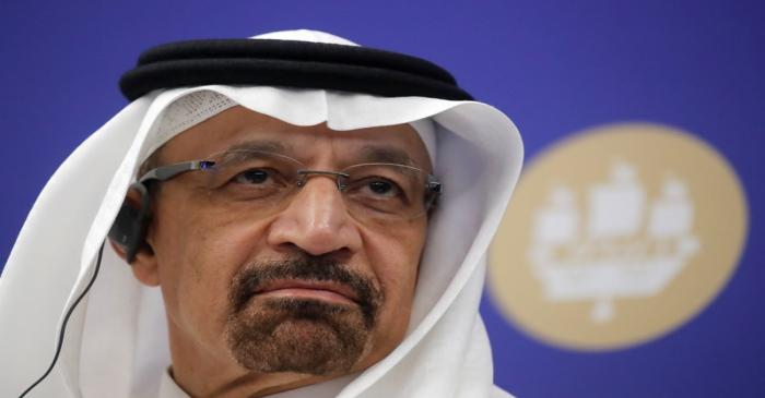 Saudi Energy Minister Khalid al-Falih attends the St. Petersburg International Economic Forum