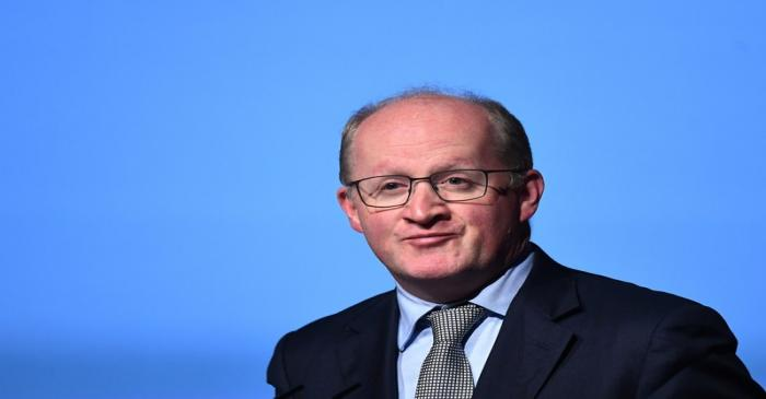 Governor of the Central Bank of Ireland Philip Lane speaks at a European Financial Forum event