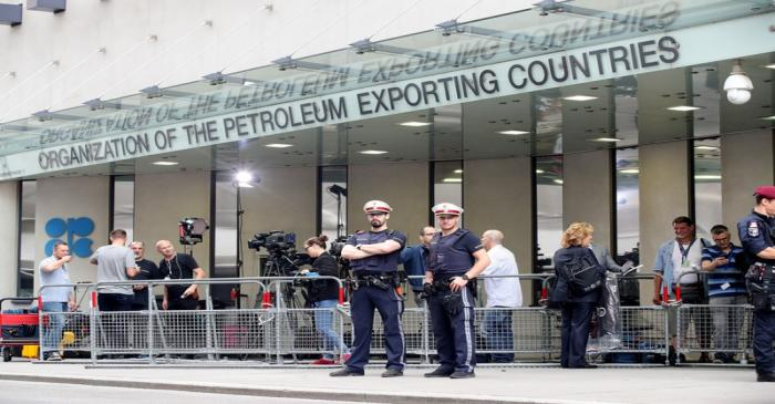 FILE PHOTO: Police guard the headquarters of the Organisation of the Petroleum Exporting