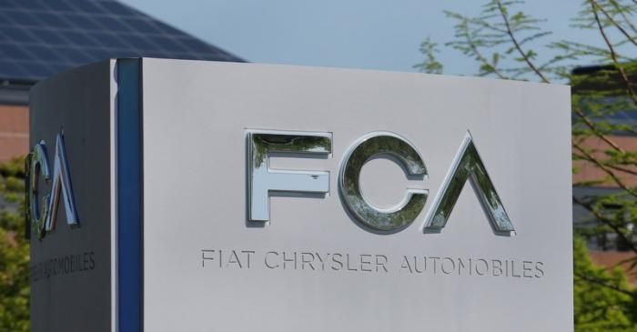 A Fiat Chrysler Automobiles (FCA) sign is seen at its U.S. headquarters in Auburn Hills,
