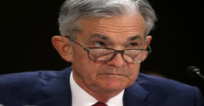 Federal Reserve Board Chairman Jerome Powell testifies on Capitol Hill in Washington DC