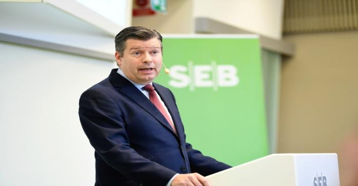 Johan Torgeby, CEO and President of Swedish Bank (SEB) presents the company's first quarter