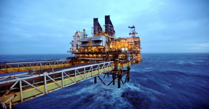 FILE PHOTO: A section of the BP Eastern Trough Area Project oil platform is seen in the North