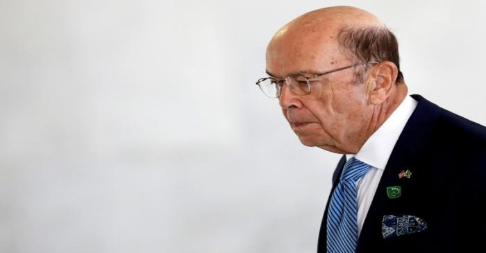 FILE PHOTO: U.S. Commerce Secretary Wilbur Ross arrives to a meeting at the Planato Palace in