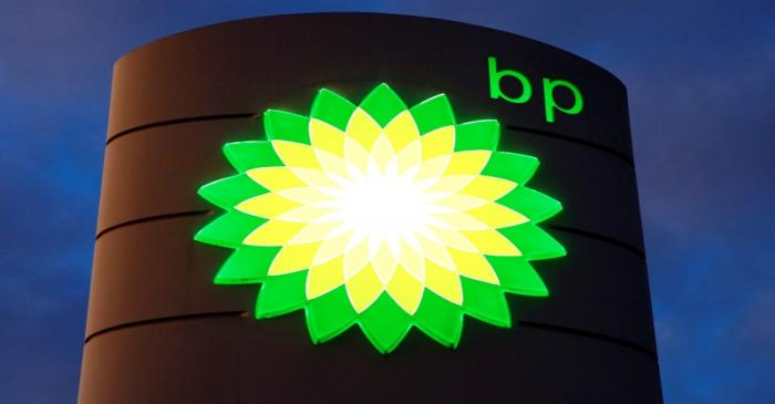 FILE PHOTO: The BP logo at a petrol station in Kloten