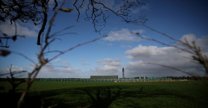 FILE PHOTO: Cuadrilla's Preston Road fracking site is seen near Blackpool