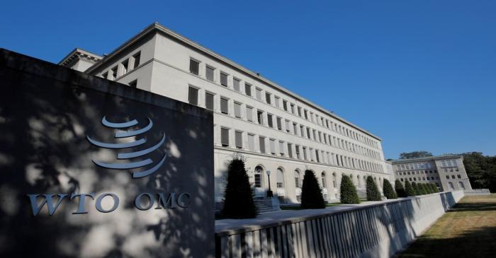 FILE PHOTO: The World Trade Organization (WTO) headquarters are pictured in Geneva