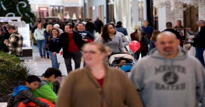 FILE PHOTO - Shoppers walk through the King of Prussia Mall, United States' largest retail