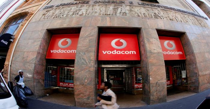 FILE PHOTO: A branch of South African mobile communications provider Vodacom in Cape Town