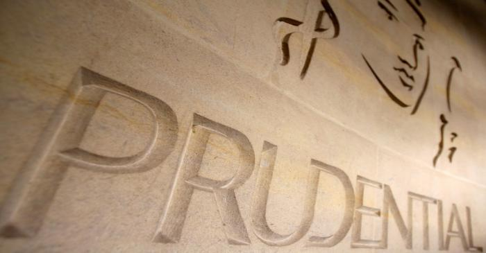 FILE PHOTO: The logo of British life insurer Prudential is seen on their building in London,