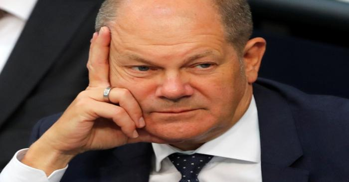 German Finance Minister Olaf Scholz attends a budget session at the lower house of parliament