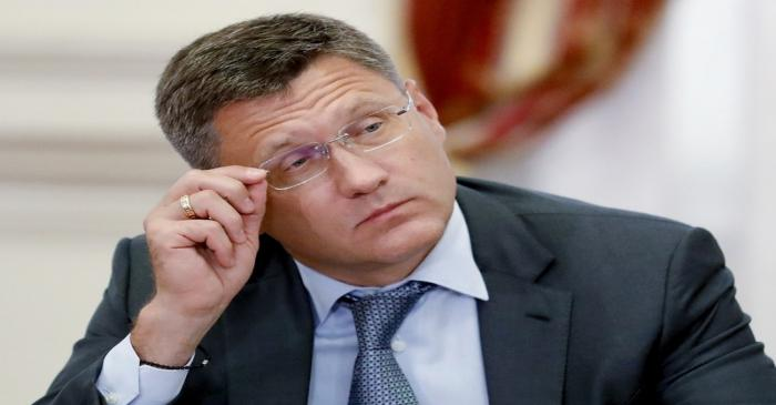Russian Energy Minister Novak attends a meeting in Astrakhan