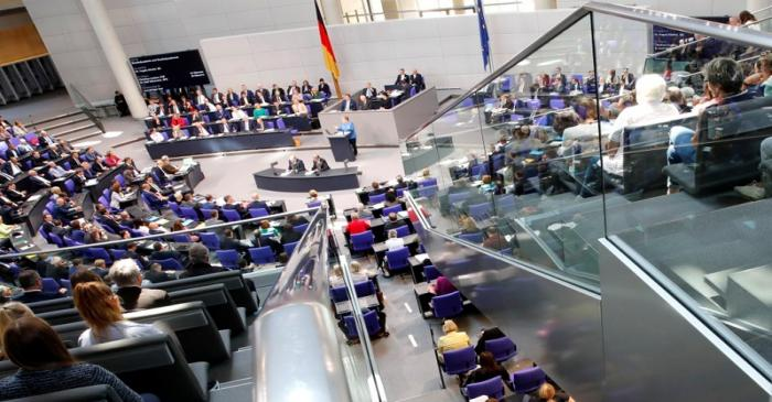 Budget debate in the Bundestag in Berlin