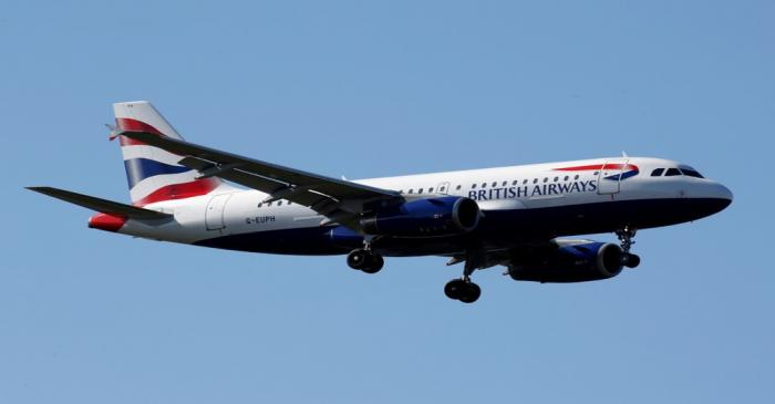 FILE PHOTO: The G-EUPH British Airways Airbus A319-131 makes its final approach for landing at