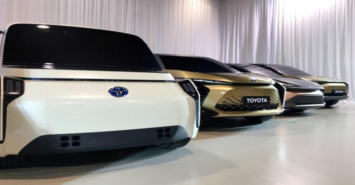 FILE PHOTO: Toyota Motor displays concept versions of its next-generation electric vehicles at