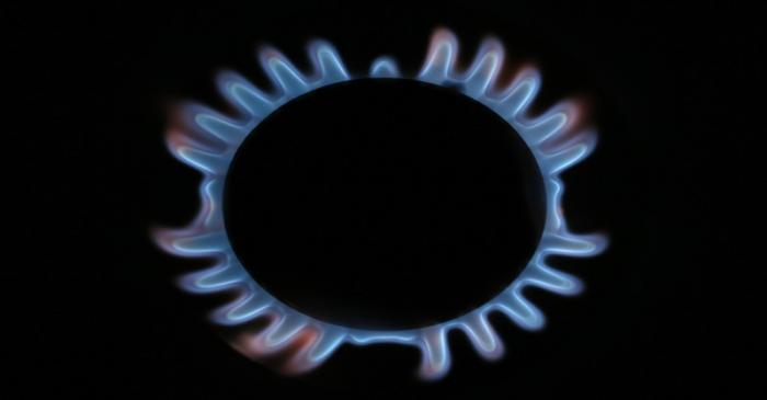 FILE PHOTO: A gas hob is seen in this photo illustration taken in London