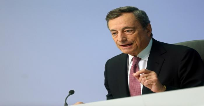 European Central Bank holds a news conference in Frankfurt