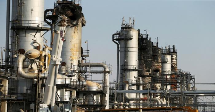 View of the damaged site of Saudi Aramco oil facility in Abqaiq