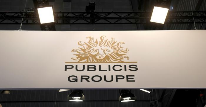 FILE PHOTO: Logo of Publicis is seen at VivaTech fair in Paris
