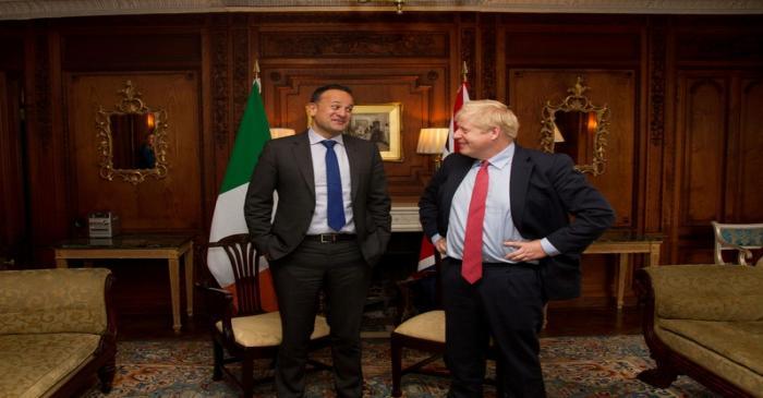 Ireland's Prime Minister (Taoiseach) Leo Varadkar and British Prime Minister Boris Johnson meet