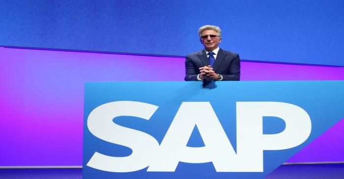SAP CEO Bill McDermott attends the company's annual general meeting in Mannheim