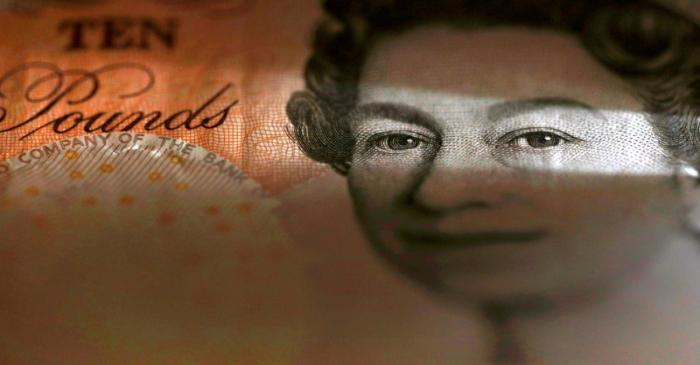 FILE PHOTO: An English ten Pound note is seen in an illustration