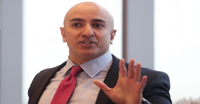 President of the Federal Reserve Bank on Minneapolis Neel Kashkari speaks during an interview