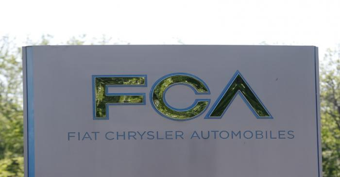 FILE PHOTO: A Fiat Chrysler Automobiles sign is seen at the U.S. headquarters in Auburn Hills,