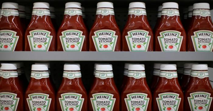 FILE PHOTO: Heinz tomato Ketchup is show on display during a preview of a new Walmart Super