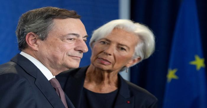Farewell event for the ECB's outgoing President Mario Draghi in Frankfurt