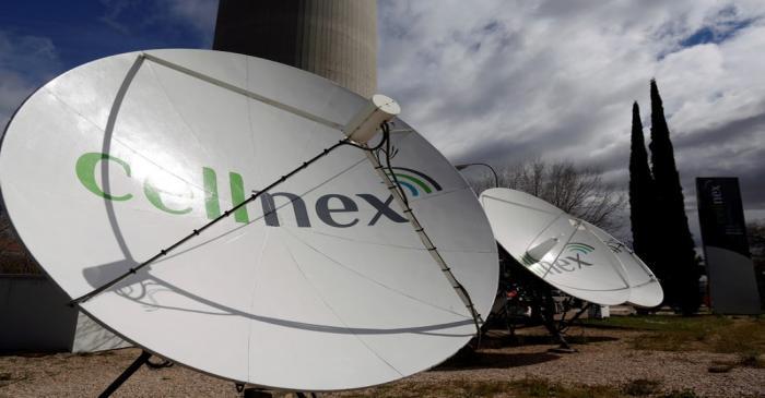 FILE PHOTO: Telecom antennas of SpainÕs telecoms infrastructures firm Cellnex are seen under