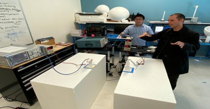 Keyssa Inc Radio Frequency Test Engineer David Mai and Chief Wireless Strategist Ruben