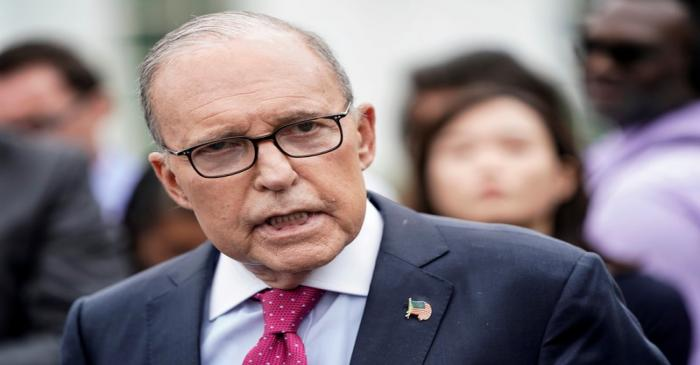 FILE PHOTO: Director of the National Economic Council Larry Kudlow speaks to the media at the