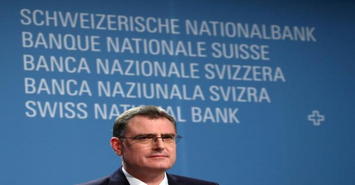 SNB Jordan attends a news conference in Bern
