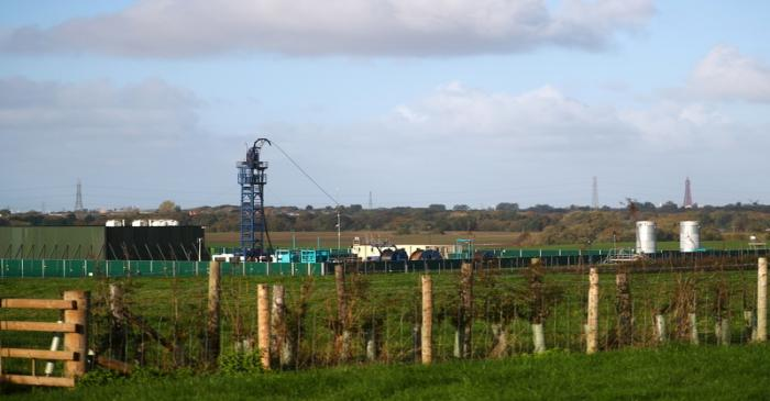 Cuadrilla's Preston Road fracking site is seen near Blackpool