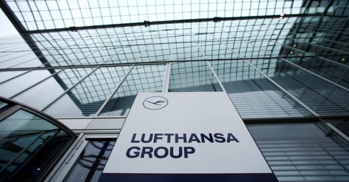 A view of an office building of German airline Lufthansa in Frankfurt