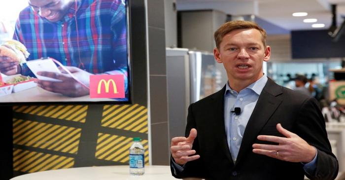 FILE PHOTO: McDonald's incoming U.S. President Chris Kempczinski speaks during a press