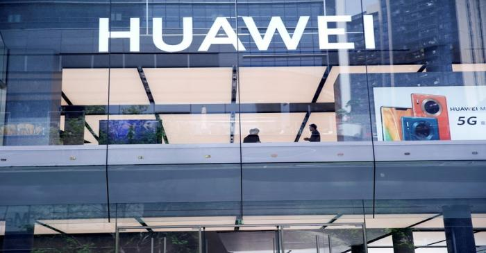 Huawei's first global flagship store is pictured in Shenzhen