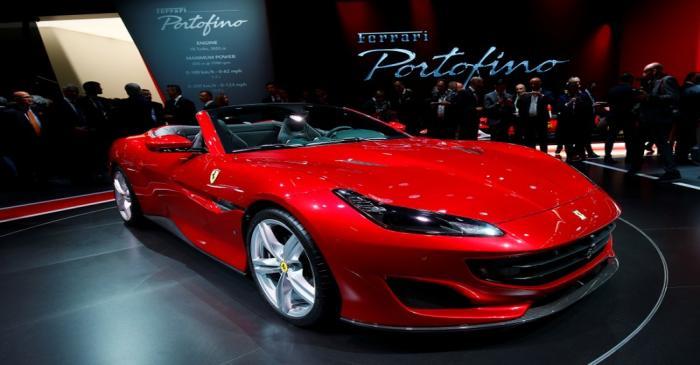 FILE PHOTO: New Ferrari Portofino is displayed during the Frankfurt Motor Show (IAA) in